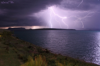 An electric storm over Sterkfontein