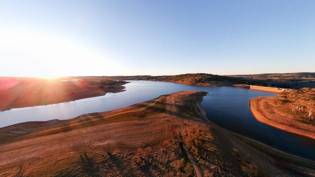 Sunset over Lake Oberon