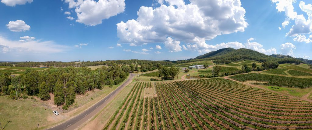 Aerial view of Mount Pleasant Wines