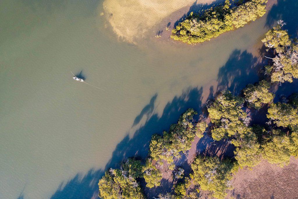 Warren fishing from his kayak at Koala Shores