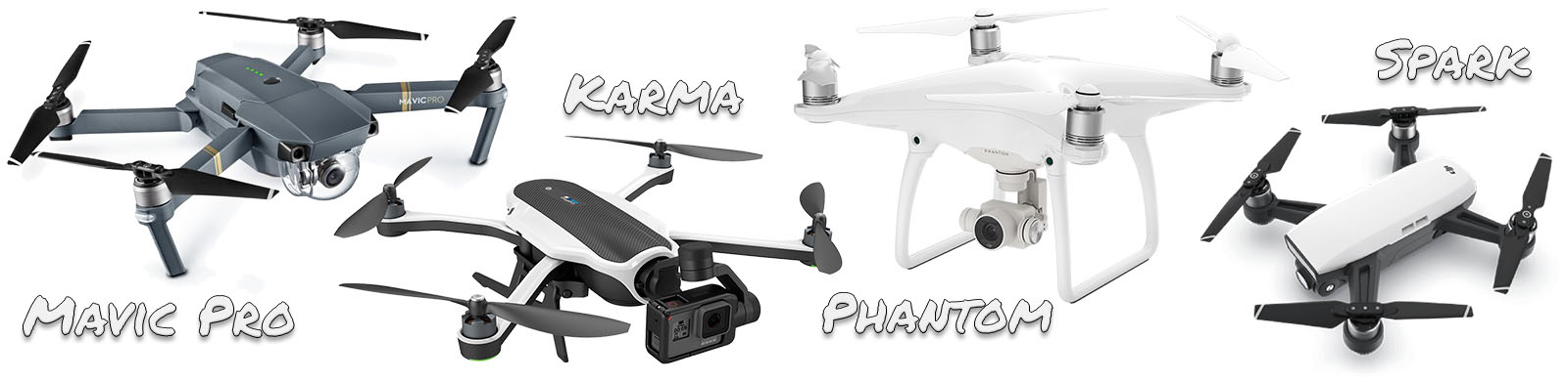The 4 drones I considered when purchasing