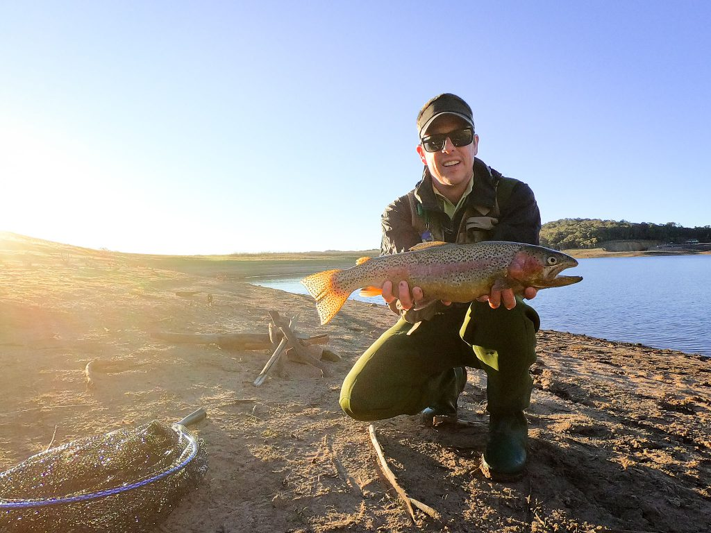 A Lake Oberon Trout, caught on fly