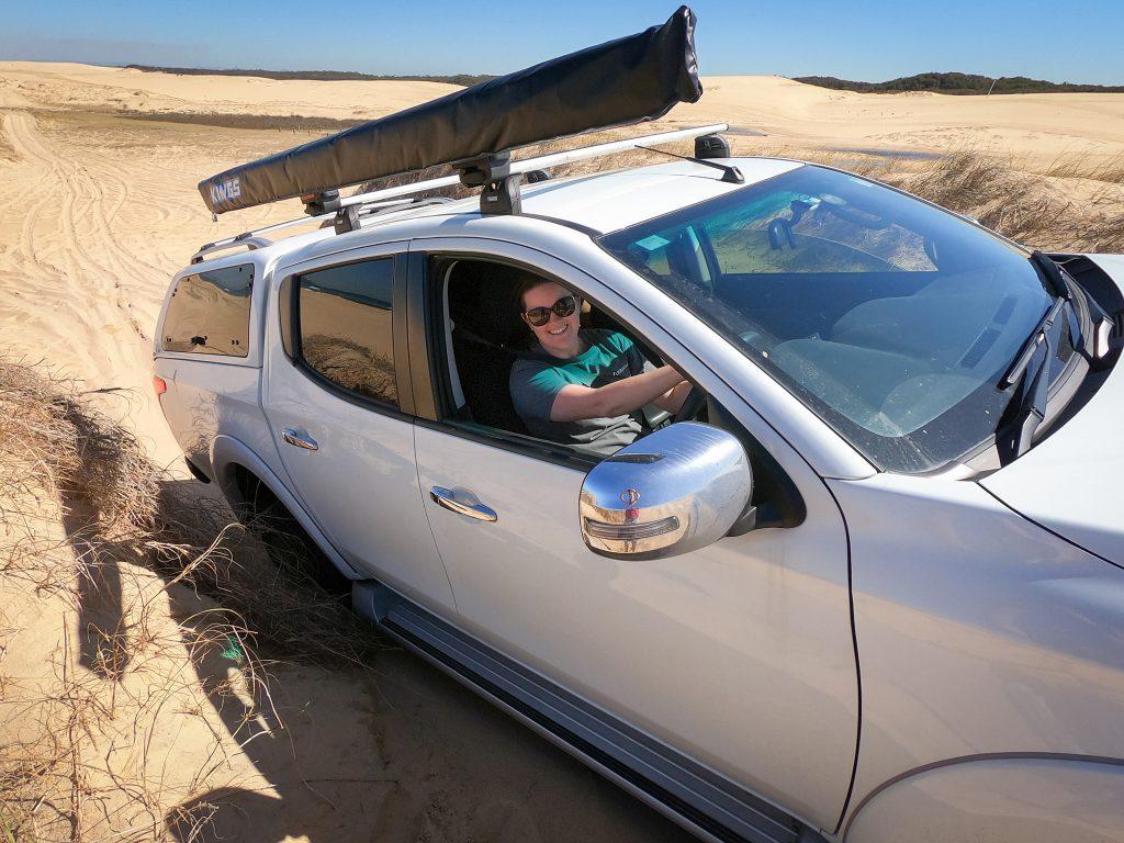 Sharon taking on the dunes