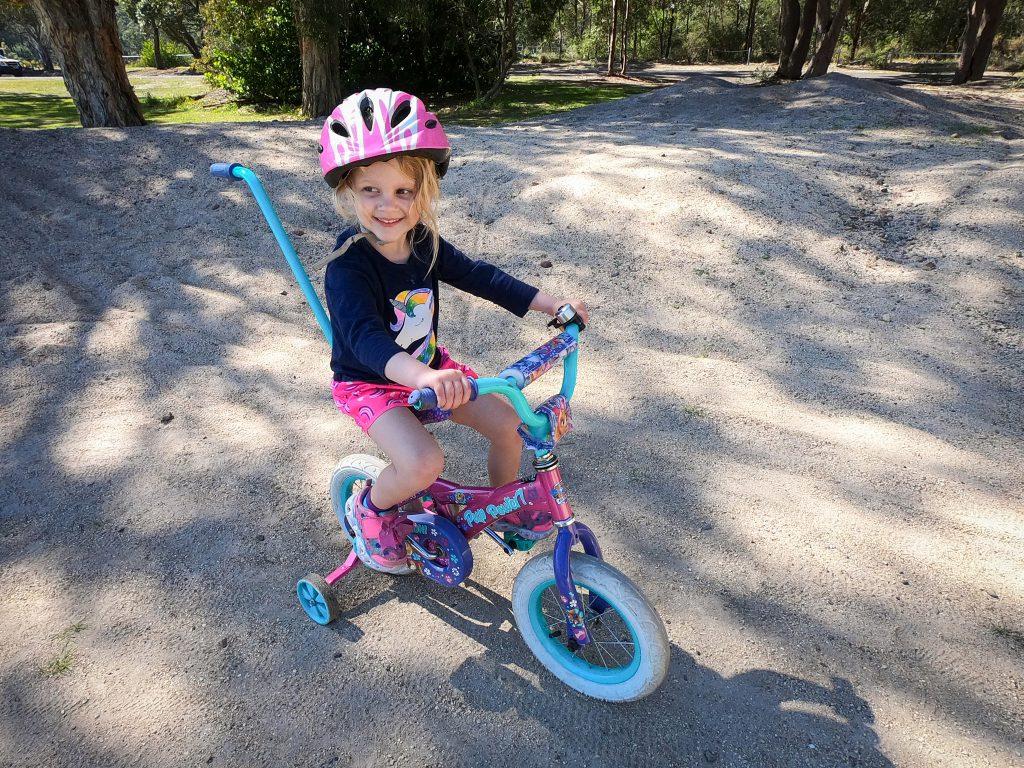 Katie at the Mallabula bike track