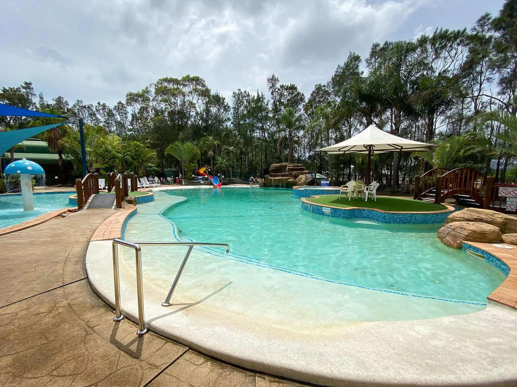 One of the pools at Ocean Beach Holiday Resort