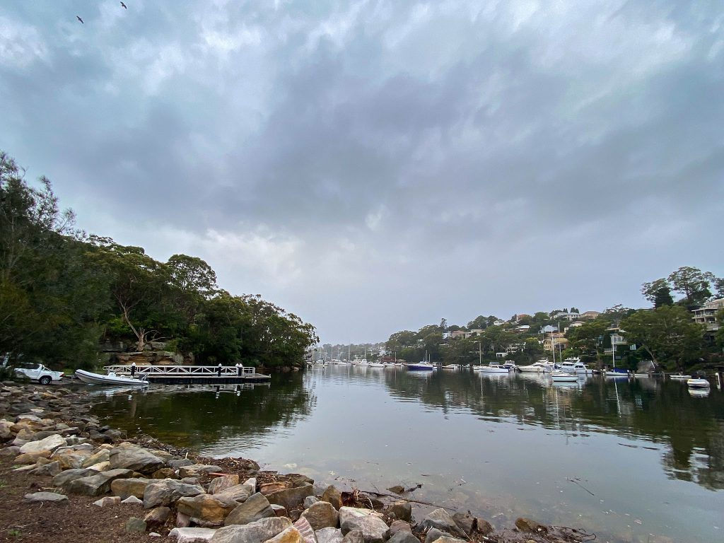 The Tunks Park Boat Ramp on a cloudy morning