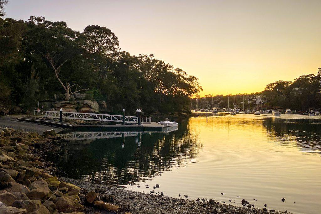 Sunrise at Tunks Park boat ramp