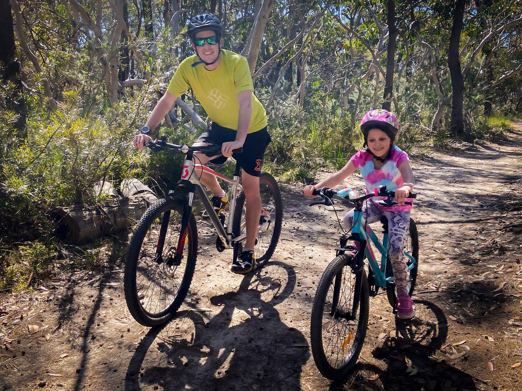 Mountain biking with Emma in the Ku-ring-gai Chase National Park