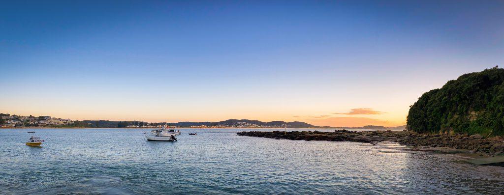 Sunrise at the Terrigal boat ramp