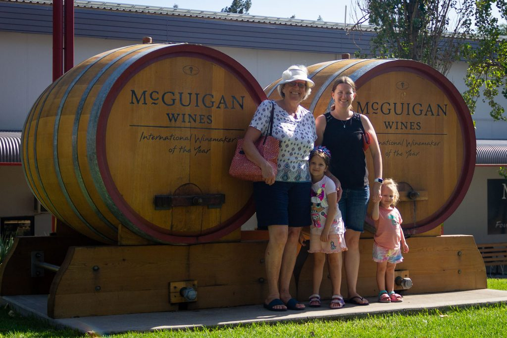 The family outside of McGuigan Wines