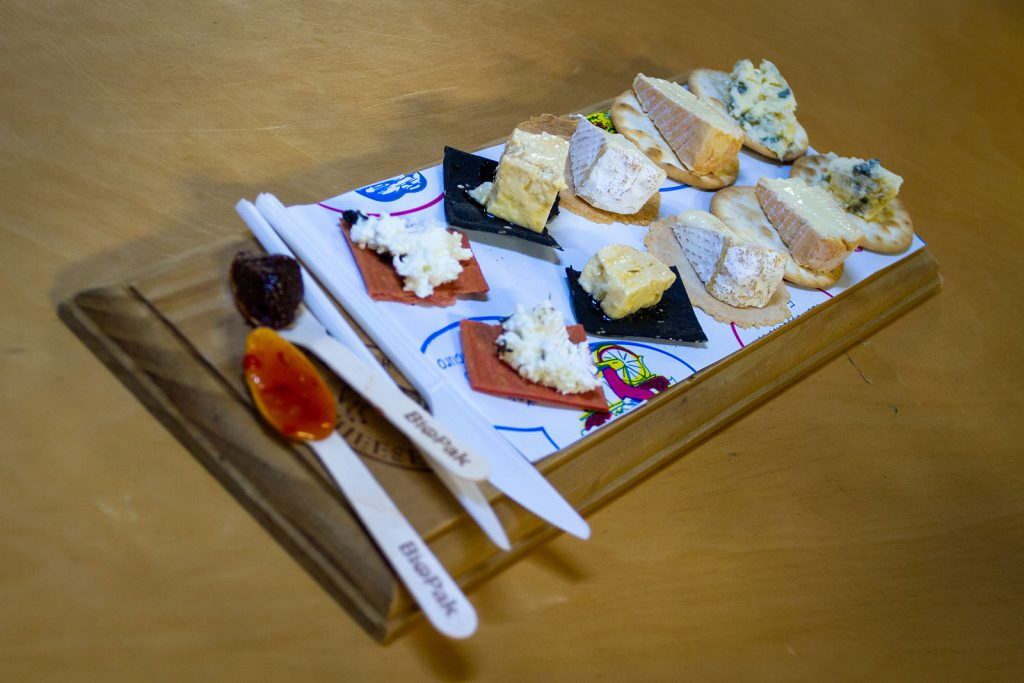 The tasting platter at the Hunter Valley Cheese Factory