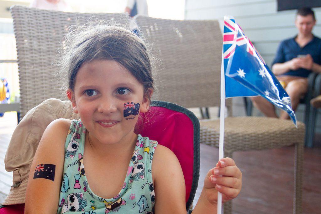 Emma enjoying Australia Day