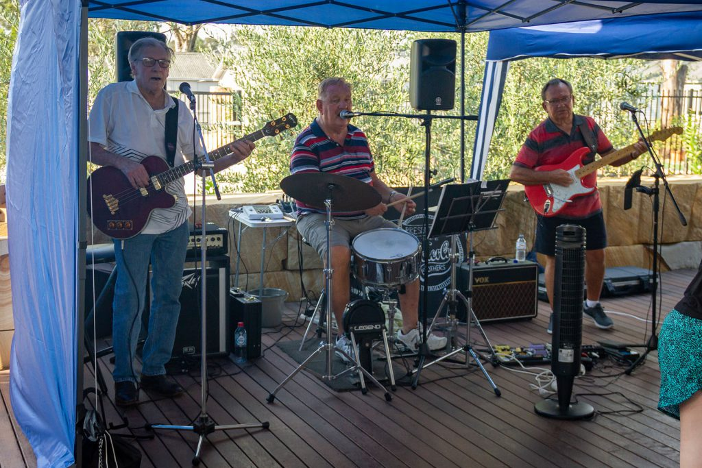 The local band - The Geriatrics - playing at Australia Day