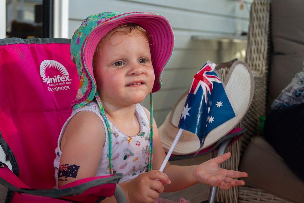 Katie enjoying Australia Day