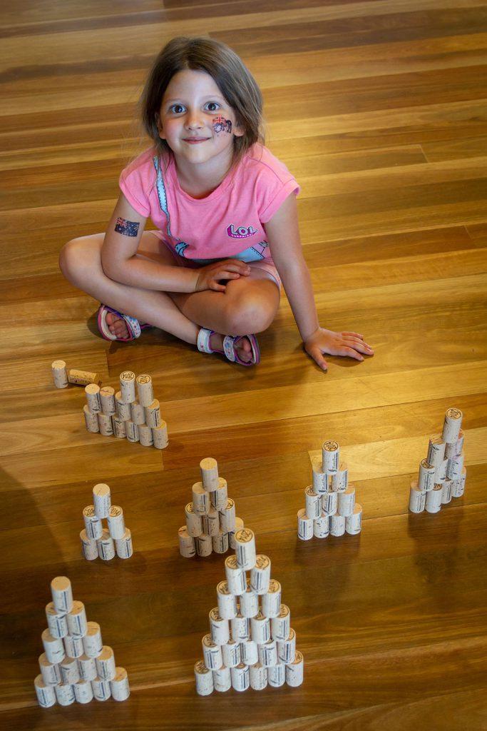 Emma building cork castles