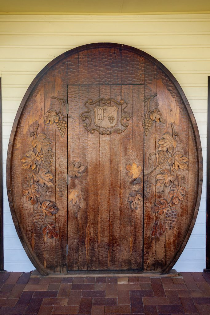 One of the winery doors at Mount Pleasant Wines