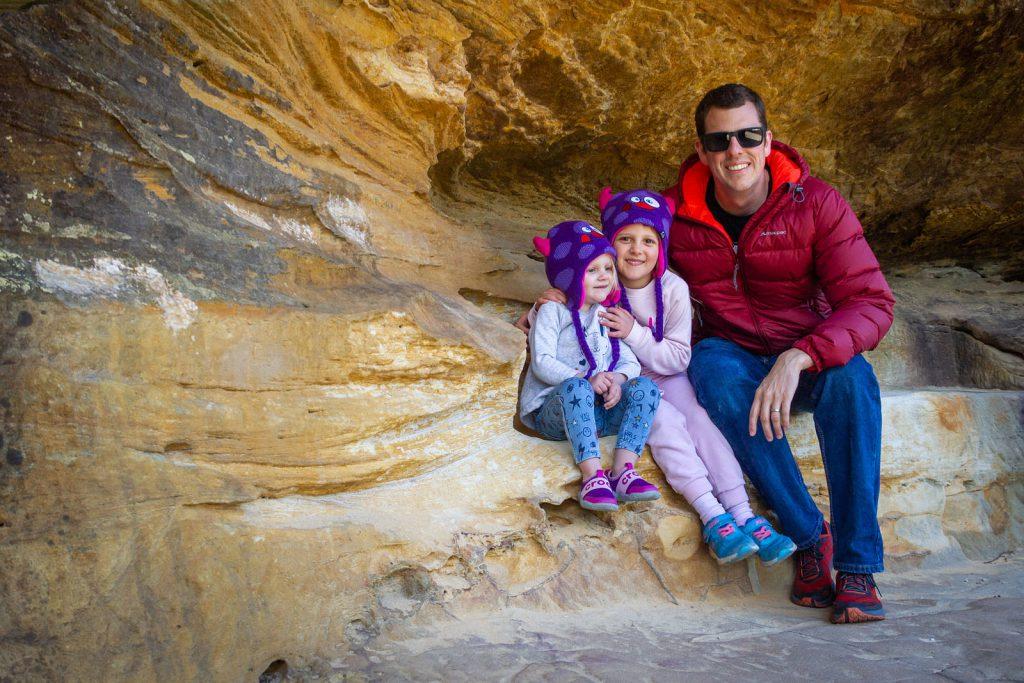 Enjoying Hangman's Rock with my girls