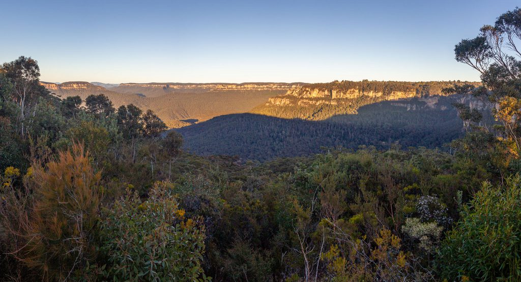 Panoramic view from the Sublime Point Lookout