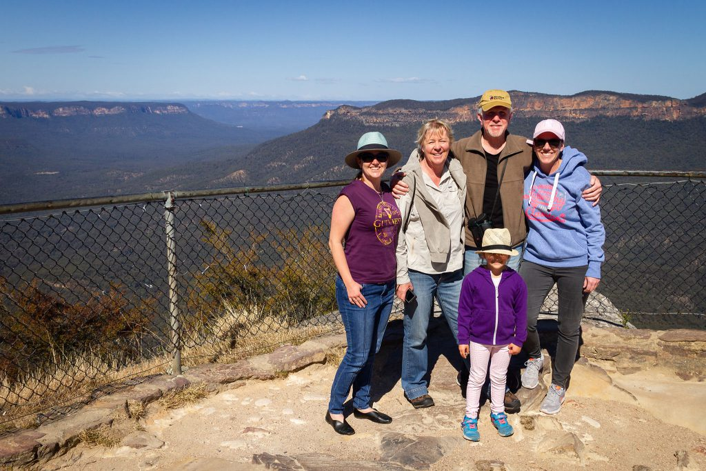 The family at Sublime Point