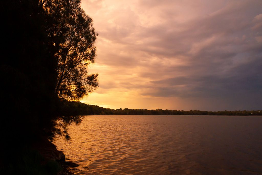 Sunset over Lake Munmorah