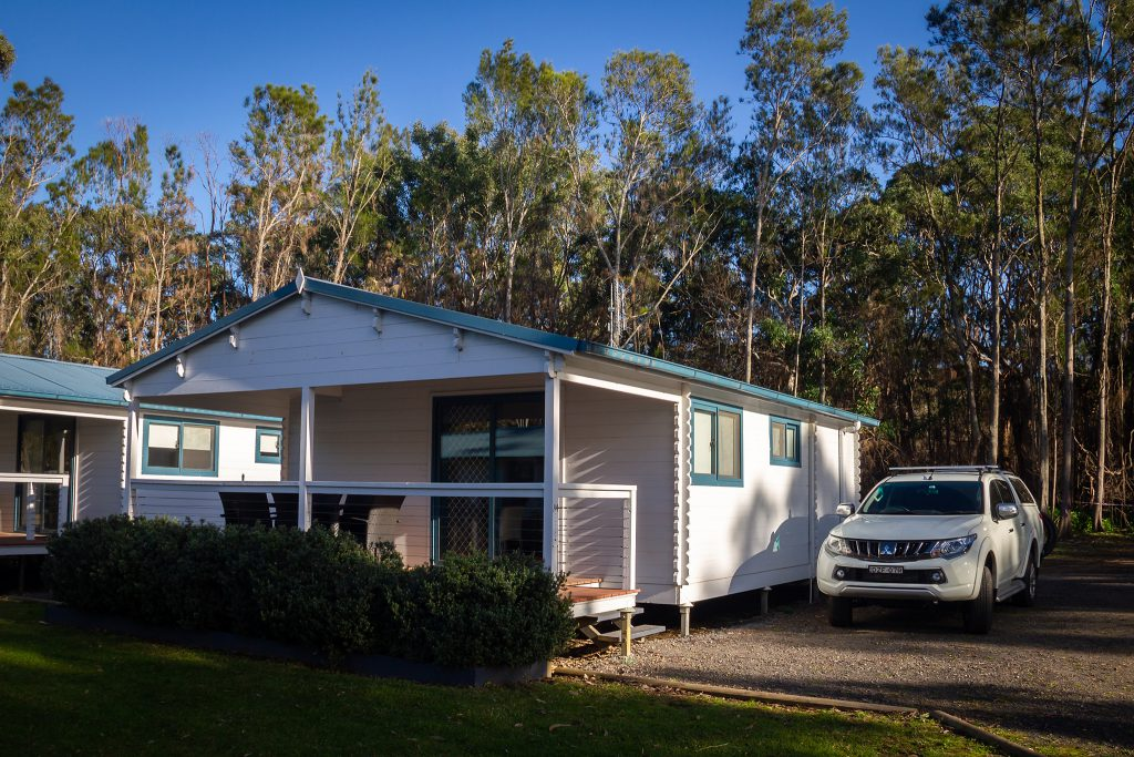 Our cabin at Racecourse Beach Tourist Park
