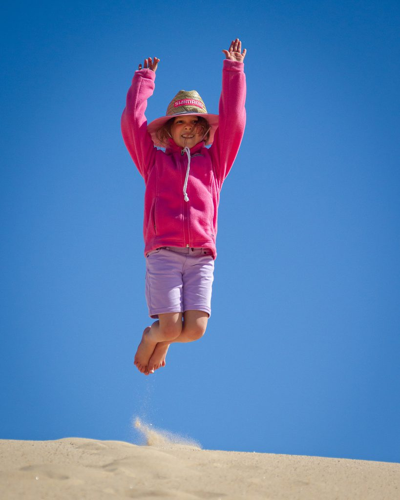 Emma on the dunes