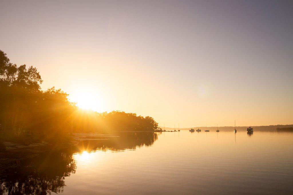 Sunset over Tilligerry Creek