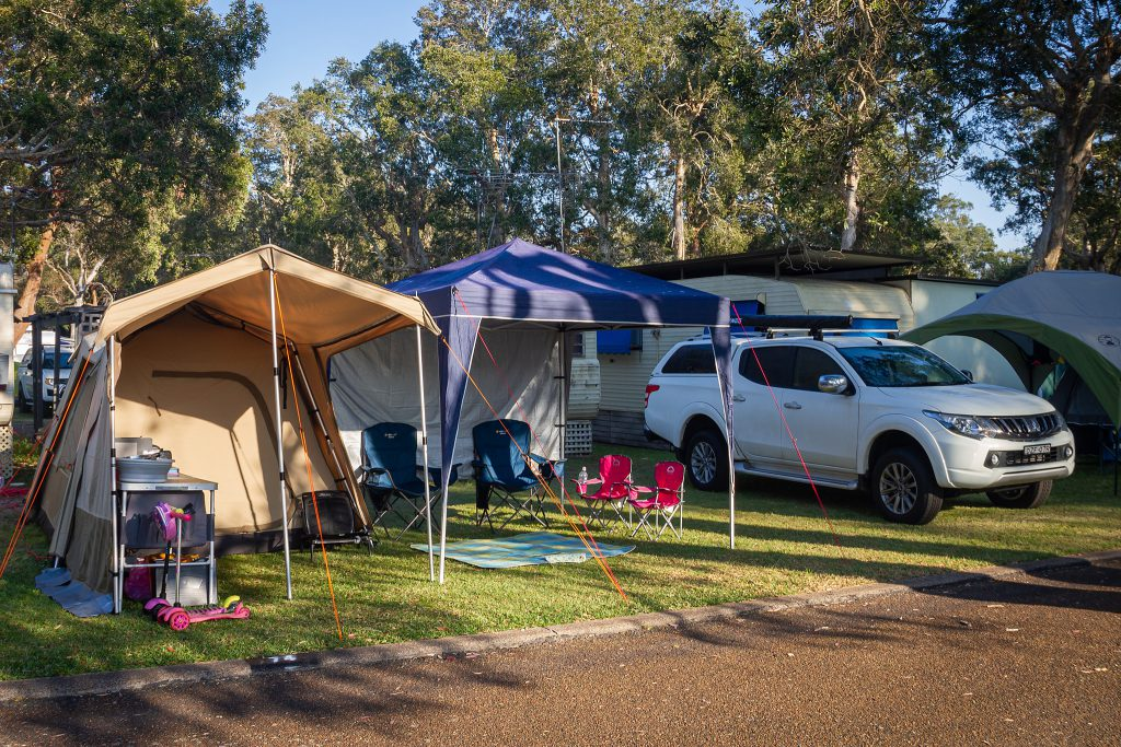 Our camp at Budgewoi Holiday Park
