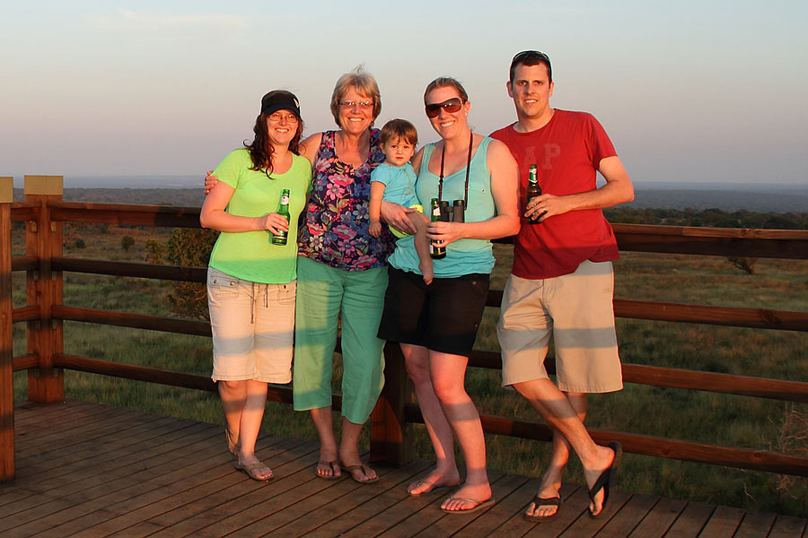 Family photo on the Mkhuze viewing tower